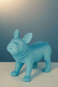 Mannequin-Works_Animal-Mannequin_Pooch-Range_French-Bulldog-D26-Matt-Blue